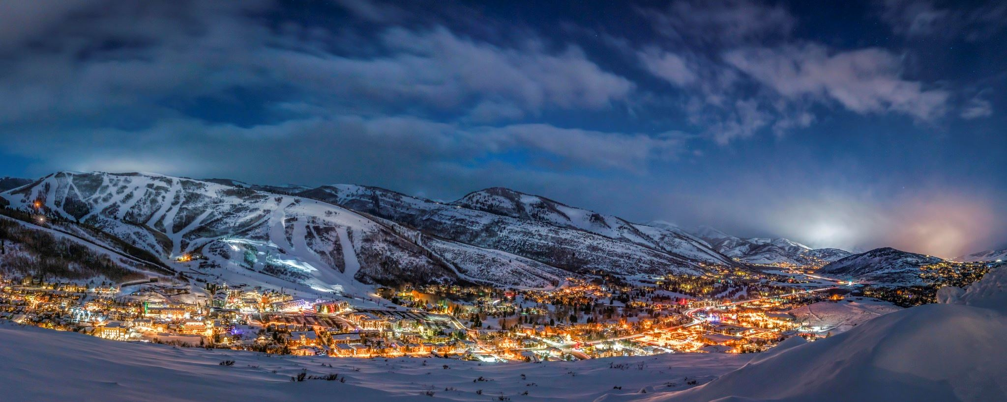 A Ski Town at Night