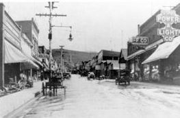 Image of Historic Park City with Horse and Buggies