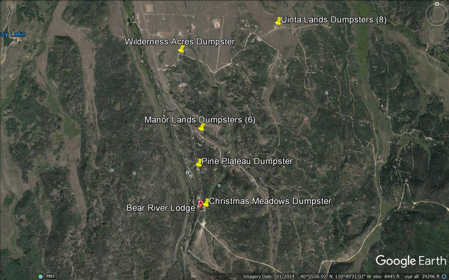 Bear River Dumpster Map
